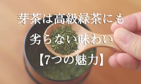 芽茶は高級緑茶にも劣らない味わいの緑茶【7つの魅力】