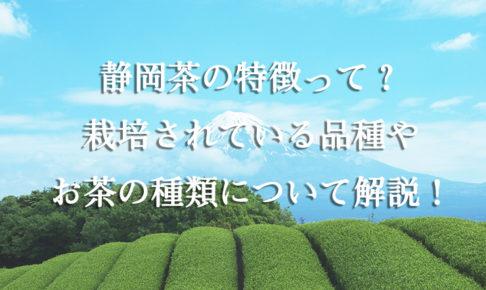 静岡茶の特徴って?栽培されている品種やお茶の種類について解説!